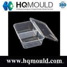 2 piezas de plástico del molde de pared delgada contenedor