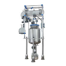 Glasrührer Doppelmantelreaktor/Labor-Reaktionsgefäß