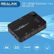 4k 3X1 3 Port HDMI Switcher with IR Remote Control
