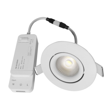 8W anti-silau dimmable dipimpin downlight