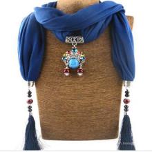 Elegante encanto colgante collar de la joyería bufanda para las mujeres