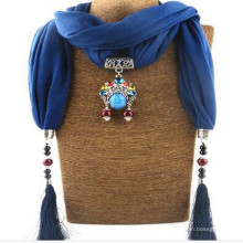 Elegant Charm Pendant Jewelry Necklace Cachecol para Mulheres
