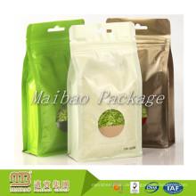 Feuchtigkeits-Beweis-nach Maß Aluminiumfolie-Seitenkeil-quadratische flache Block-untere Tee-Verpackungs-Tasche
