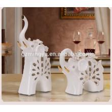 Diferentes tipos de design de decoração de natal ou peças de decoração de casa artesanato de elefante de cerâmica do site da alibaba china
