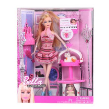 "11.5"" Plastic Toy Fashion Doll with Accessories"