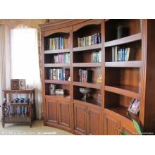 Mobilier de maison neuve Bibliothèque à bois bon marché avec tiroirs