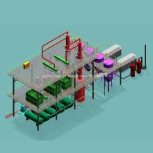 Torre de destilação de refinaria de petróleo bruto de laboratório