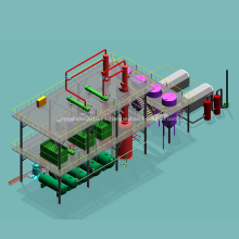 Torre de destilación de refinería de petróleo crudo de laboratorio