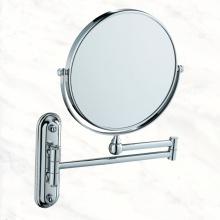 Miroir cosmétique de salle de bains en métal chromé avec montage mural pour salle de bain