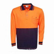 Men's work clothes/polo shirt/men's long-sleeved work wear/polo shirt