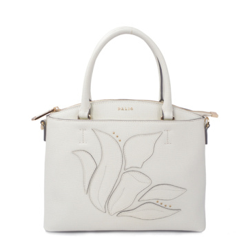 Borsa a conchiglia retrò Mini Half Tote in pelle