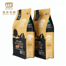 Accept Custom Order High Quality Flat Bottom Dog Food Packaging Feed Bags For Sale
