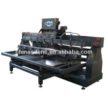 JK-M8 wood cnc router machine for cylinder materials with 8 heads