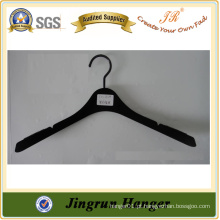 China Fabricante Adult Popular Velvet Hanger of Plastic
