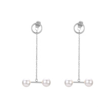 E-672 xuping silver color stainless steel fashion shell pearl design popular women's drop earrings