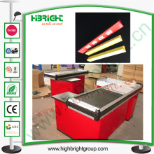 Check-out Counter Plastic Divider para publicidade
