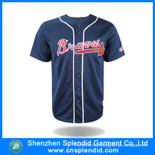 New 2016 Custom Navy Print Fashion Professional Baseball Jersey
