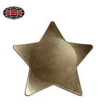 Gold Star Plastic Plate with Metallic Finish
