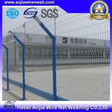 Clôture de sécurité à clôture en acier soudé revêtu de PVC