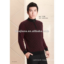 2015 fashion men's 100% cashmere golf sweater