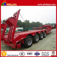 4 essieux transportant la remorque de bas lit de transport lourd de 80 tonnes