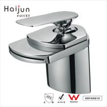 Haijun 2017 Hot Products Artistic Single Handle Waterfall Brass Basin Faucet