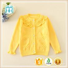 Baby ein Stück Schule Pullover cadigans Kinder gelbe Strickjacken rosa Pullover Minze / weiße Kleidung für Kinder