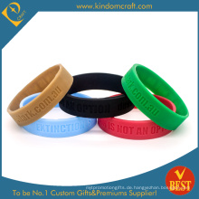Heißer Verkauf Billig Plain Logo Silikon Armband & Armband