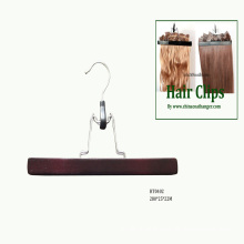 Black Wooden Extension Hair Hangers Wooden Pants Skirt Clamps