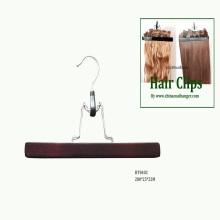 Черный деревянные расширение волос вешалки деревянные брюки юбка зажимы