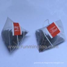 Schwarzer Tee Taschen Pyramide Teebeutel