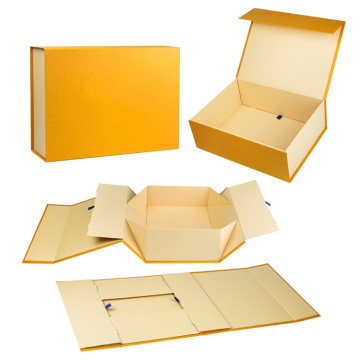 2019Gift Magnetic Flap Paper Folding Box With Ribbon