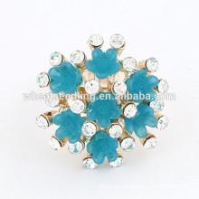 Vogue estilo pequeno anel de flor engraçado anéis de noivado