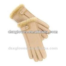 Двойные перчатки из овчины из меха