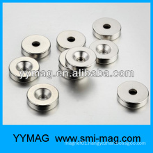 NdFeB round magnet with a hole for meter