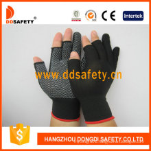 13 Gauge Nylon Polyester Seamless with Half Finger Glove Dkp528