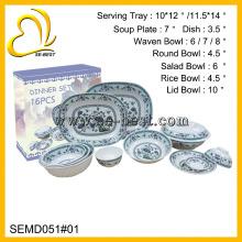 16шт элегантные меламин посуда, меламиновая посуда для