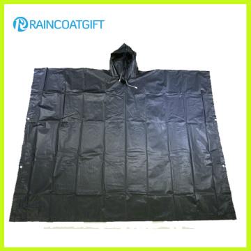 Emergency Black PEVA Rain Poncho Rpe-011