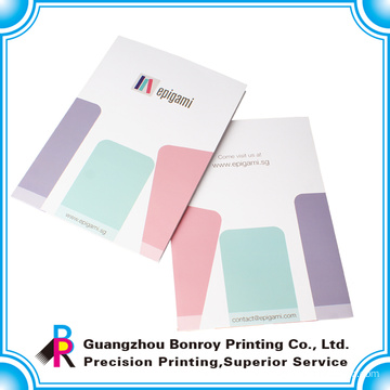 China popular colorful printing a4 size paper folder wholesale