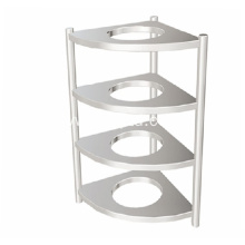 Stainless steel multi layer kitchen storage rack