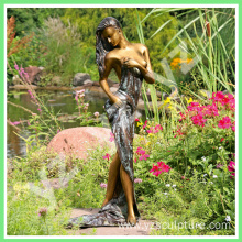 Garden Decoration Life Size Bronze Woman Statue
