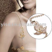 Correa de cuero bonito del sujetador del oro