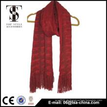 China neue Produkt fancy Acryl gestrickt Schal Winter Schalldämpfer Mädchen Schal