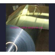 450mic metalizado PVC película rígida con oro y plata