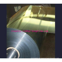 Película rígida de PVC metalizado de 450mm com ouro e prata