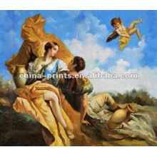 Figura religiosa hecha a mano del 100% pintura al óleo del artista