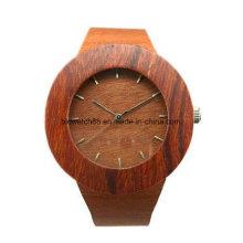 Reloj de madera de Handcraft de la calidad al por mayor con el logotipo de encargo