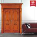 interior solid wood double door exterior door restaurant entry door