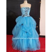 Spitze und Perlen blau Quinceanera Kleider 100_6643