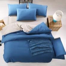 Cómoda de microfibra de poliéster sólido ropa de cama Duvet Cover Set